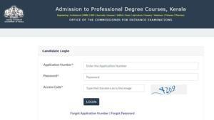 KEAM 2020 registration. (Screengrab)