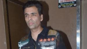 Filmmaker Karan Johar at the screening of the film Good Newwz.(IANS)