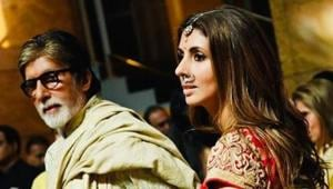 Amitabh Bachchan and Shweta Bachchan Nanda shared pictures from Armaan Jain's wedding in Mumbai.(Instagram)