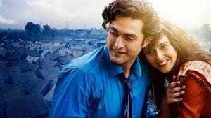 Newcomers Aadil Khan and Sadia in a poster for Shikara.