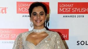 Bollywood actor Taapsee Pannu poses for a picture at the Lokmat Most Stylish Awards.