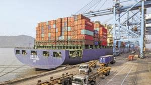 The Jawaharlal Nehru Port Trust (JNPT), in Navi Mumbai is setting up a fourth container terminal.(Bloomberg File Photo)