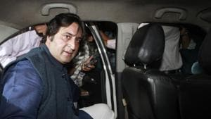 J&K leader Sajjad Gani Lone was among the two leaders released from detention on Wednesday.(Hindustan Times Photo/File)