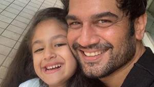 Shaad Kelkar poses with his daughter Kesha on her birthday.