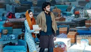Shikara movie review: Sadia and Aadil Khan in a still from the film.