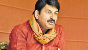 Manoj Tiwari, the chief of the BJP's Delhi unit, targeted chief minister Arvind Kejriwal over his temple visit on Friday.((Arvind Yadav/HT File Photo))