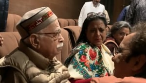 Senior BJP leader LK Advani got teary-eyed at the screening of Shikara.