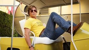 This image released by Sony Pictures shows Brad Pitt in Quentin Tarantino's Once Upon a Time in Hollywood.(AP)