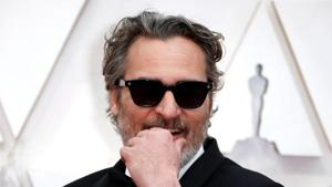 Joaquin Phoenix poses on the red carpet during the Oscars arrivals at the 92nd Academy Awards in Hollywood, Los Angeles, California.(REUTERS)