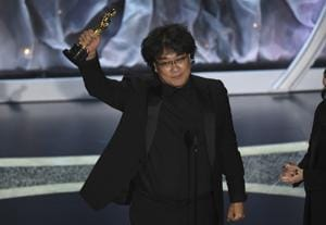 The South Korean film, Parasite, became the first foreign language film to win Best Picture for its dark drama(Chris Pizzello/Invision/AP)