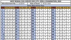 WBPSC answer key for civil services prelims 2020 released at pscwbonline.gov.in