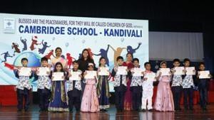 Cambridge School held its Montessori Graduation ceremony recently(HT PHOTO)