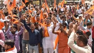 Bajrang Dal workers in Moradabad forced a newly-married inter-faith couple in Moradabad to call off their wedding reception.(Representative image/HT Photo)