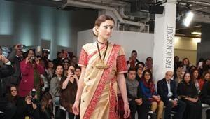 London Fashion Week gets a taste of the magic of 'sari'