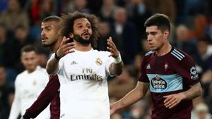 Soccer Football - La Liga Santander - Real Madrid v Celta Vigo - Santiago Bernabeu, Madrid, Spain - February 16, 2020 Real Madrid's Marcelo reacts REUTERS/Sergio Perez(REUTERS)