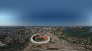 Ahead of Donald Trump's visit, BCCI shares bird's eye view of picturesque Motera Stadium