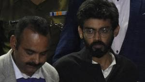 JNU student Sharjeel Imam has been named 'instigator' in a Delhi Police charge sheet on violent protests against the CAA in south Delhi's Jamia Nagar(Biplov Bhuyan / HT File)