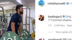 'Common shaana': Harbhajan Singh hilariously trolls Rohit Sharma for posting workout video