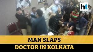 Watch: Man slaps doctor after family member dies at Kolkata hospital