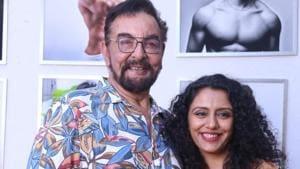 Actor Kabir Bedi and his wife Parveen Dusanj at fashion photographer Dabboo Ratnani's calendar launch in Mumbai.(IANS)