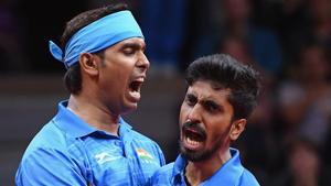 File image: Sharath Achanta and Sathiyan Gnanasekaran(Getty Images)