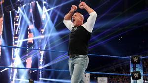 WWE SmackDown: Goldberg flattens The Fiend