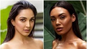 Kiara Advani's picture (L) and the supposed original, shared by Marie Barsch.