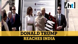 Watch: PM Modi welcomes Donald Trump to India with a hug
