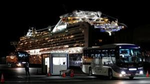 A total of 138 Indians, including 132 crew and 6 passengers, were among the 3,711 people, on board the Diamond Princess ship when it docked at the Yokohama port, near Tokyo, on February 3.(REUTERS)