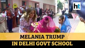 Watch: US First Lady Melania Trump visits Delhi govt school, interacts with kids
