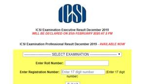 ICSI CS Result 2019 out(ICSI)