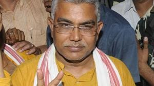 BJP State President Dilip Ghosh says party will continue to press for NRC in West Bengal(Samir Jana/HT PHOTO/File)