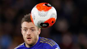 Soccer Football - Premier League - Leicester City v Manchester City - King Power Stadium, Leicester, Britain - February 22, 2020 Leicester City's Jamie Vardy in action Action Images via Reuters/John Sibley(Action Images via Reuters)