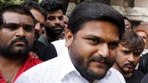 Hardik Patel had led a Patidar agitation in 2015 in Gujarat and was booked for leading a march without permission.(ANI File Photo)