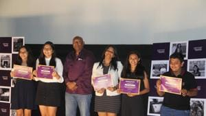 During the event, the four movies were screened and certificates were distributed.(HT PHOTO)