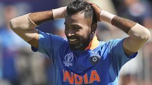 File image of India cricketer Hardik Pandya.(AP)
