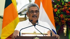 Gotabaya Rajapaksa, a former defence secretary, won the presidency last November and named his elder brother Mahinda Rajapaksa as the interim Prime Minister.(Mohd Zakir/HT PHOTO)
