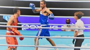 Ashish Kumar wins his bout.(Twitter/India All Sports)