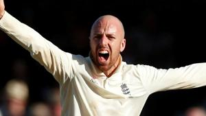 File image of England cricketer Jack Leach.(Action Images via Reuters)
