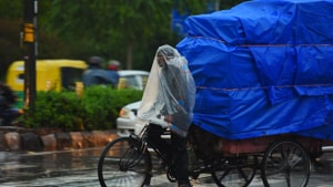 The minimum temperature recorded by the IMD in Delhi on Friday was 14 degrees Celsius, while the maximum was 22 degrees.(RAJ K RAJ/HT PHOTO.)