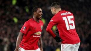 Soccer Football - FA Cup Fifth Round - Derby County v Manchester United - Pride Park, Derby, Britain - March 5, 2020 Manchester United's Odion Ighalo celebrates scoring their third goal Action Images via Reuters/Carl Recine(Action Images via Reuters)