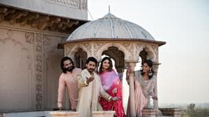 A celebration of hope, a prayer for peace. May this Holi heal, may good overcome evil...Atharva, Sameer, Shivika and Shama let their wishes take wings as stunning spirals of colour make the haveli look even more enchanting.