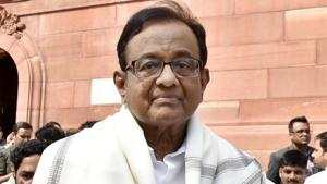 Former Finance Minister and Congress MP P. Chidambaram said the ban on the television channels was an interference on the freedom of the press.(Mohd Zakir/HT PHOTO)