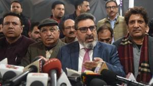 Former PDP leader, Syed Altaf Bukhari, has set up the J&K Apni Party, with the stated goal of bringing relief to the residents of the UT, and building confidence with Delhi(Waseem Andrabi/ Hindustan Times)