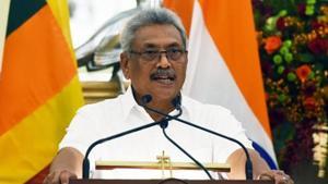 Sri Lankan President Gotabaya Rajapaksa said country's economy was severely hit due to Coronavirus scare.(HT PHOTO/File)