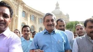 Manohar Parrikar was Goa' chief minister for four times, and also served as Union minister for defence.(HT File Photo)
