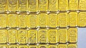 In the global market, gold was quoting with gains at USD 1,539 per ounce, while silver was trading flat at USD 15.65 per ounce.