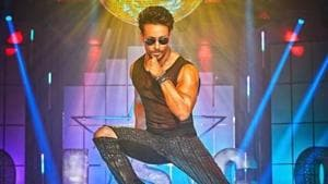 Tiger Shroff in a poster for I am a Disco Dancer 2.0.