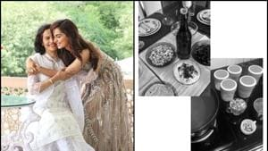 Manushi Chhillar cooked a meal for her father, who has been managing the house in the absence of her mother.