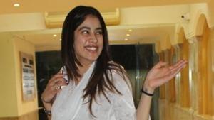 Janhvi Kapoor seen at actor Arjun Kapoor's residence in Mumbai.(IANS)